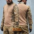 Areia camo TRU 65/35 Poly Iva Algodão Rip-Stop 1/4 Zip Camisa de Combate