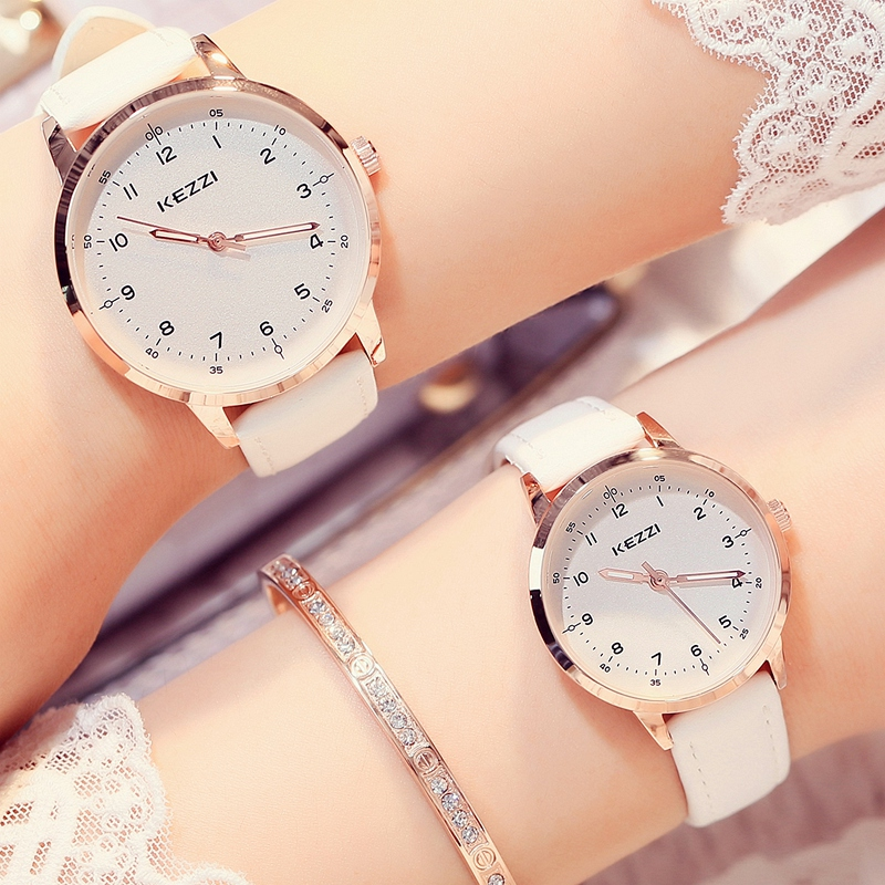 Casual leather strap quartz watches fashion analog japan movement waterproof ladies watch reloj for Celebrity quartz watch japan movt