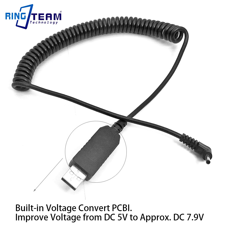 CA PS700 CA-PS700 USB Power Cables for <font><b>Canon</b></font> EOS Rebel <font><b>PowerShot</b></font> S1 S2 S3 S5 SX1 SX10 <font><b>SX20</b></font> <font><b>IS</b></font> Elura 40MC 50 60 65 70 80 IXY DV3 image