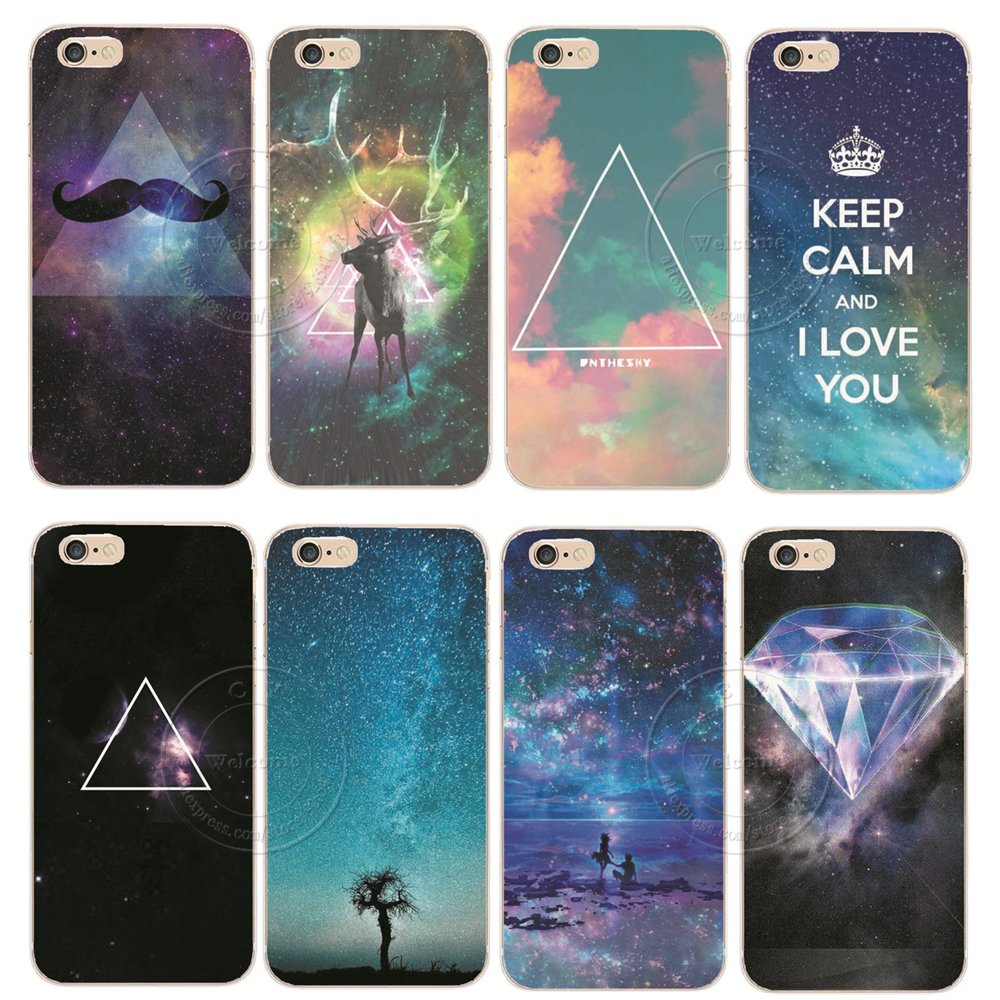 New Fashion Promotion Space Universe Designs Luxury Hard Plastic Back Phone Case Cover For Apple iPhone 6 6S