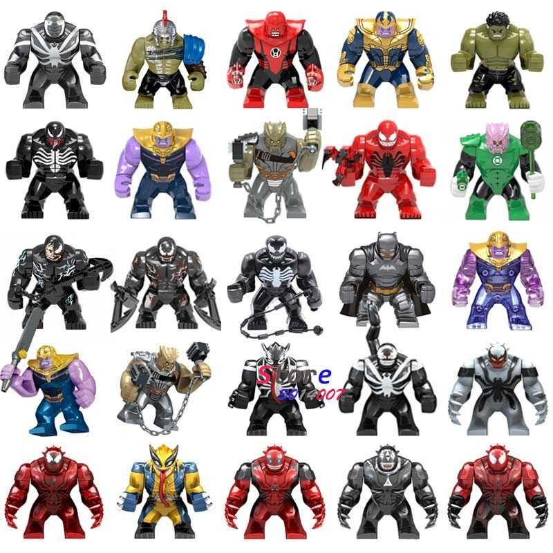 Один большой размер чудо-яд бунт Carnage Agony Lasher токсин крик Фадж танос Бэтмен Человек-паук Строительные блоки игрушки