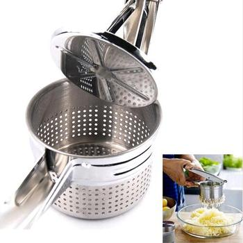 New Stainless Steel Potato Masher Ricer Puree Fruit Vegetable Juicer Press Maker Potato Mashers & Ricers