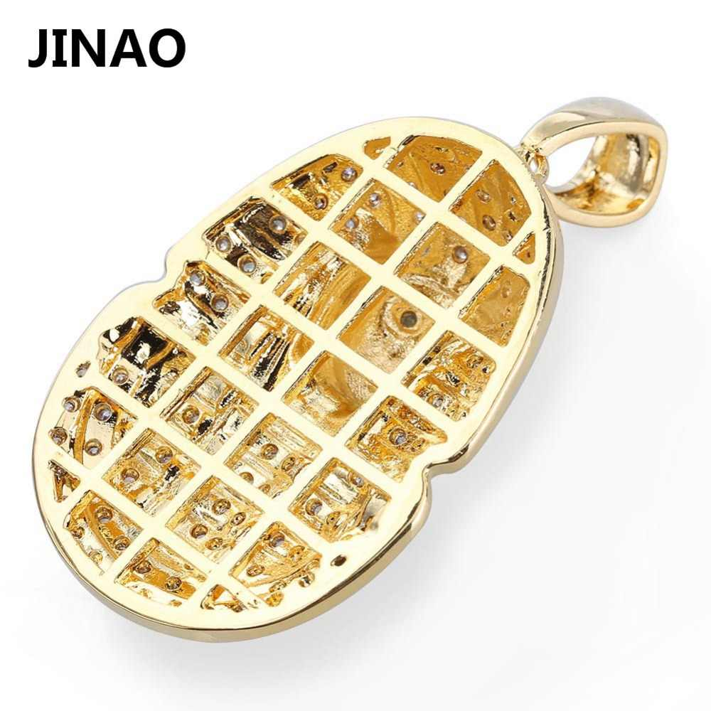 จิงโจ้เครื่องประดับ Hip Hop Iced OUT ทองชุบสีอียิปต์ฟาโรห์จี้สร้อยคอ Micro Pave Zircon Charm CHAIN สำหรับผู้หญิงผู้ชาย
