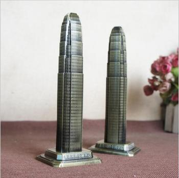 World Architecture Model Hong Kong Financial International Center Decoration Creative Home Decoration Tourism Souvenirs 1