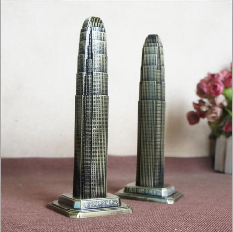 World Architecture Model Hong Kong Financial International Center Decoration Creative Home Decoration Tourism Souvenirs