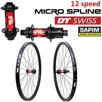 12 Speed DT Swiss 240 Hub Sapim Spokes 650B Carbon MTB Bike Wheelset 35mm Width 27.5er Mountain Bike Wheel Tubeless Ready
