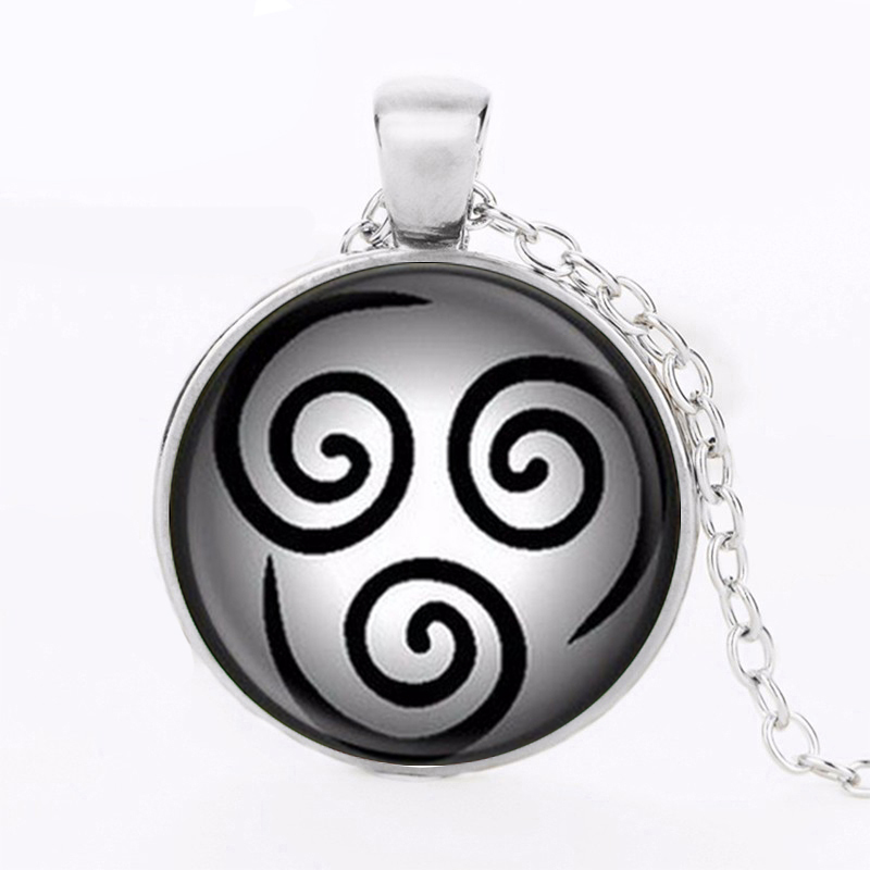 Avatar The Last Airbender Pendant Air Nomad Glass Pendant Necklaces