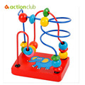 2016 New Children Kids Baby Colorful Wooden Mini Around Beads Educational Game Toy HT93100MU