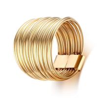 2016 Big Fashion Ring For Woman 18K Gold Plated Russian Interlocking Rings Stainless Steel Jewelry