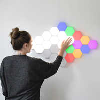 Neue Touch Empfindliche Beleuchtung Bunte Modulare Quantum Lampe LED Nachthimmel Hexagonal Magnetische Montage Lampen Decor Wand Lampara