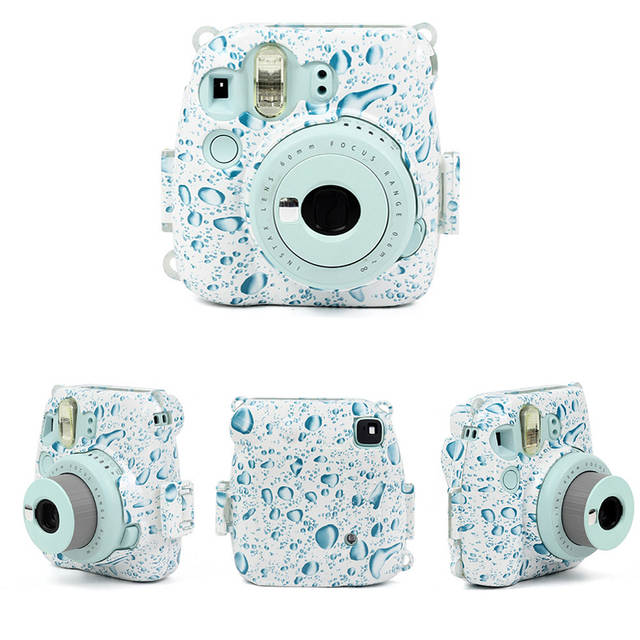 Flower Brightness Bags for Fujifilm Instax Mini 8 Mini 8s 9 Instant Camera  Case Strap Protector Dust Proof Cover Gifts