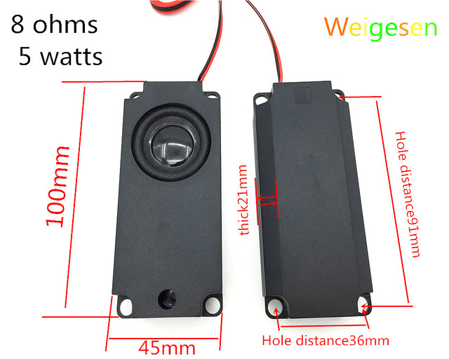 2pcs high-end LCD TV speakers, 10045 advertising machines, massage chairs, 8ohm, 5W, built-in speakers, speakers