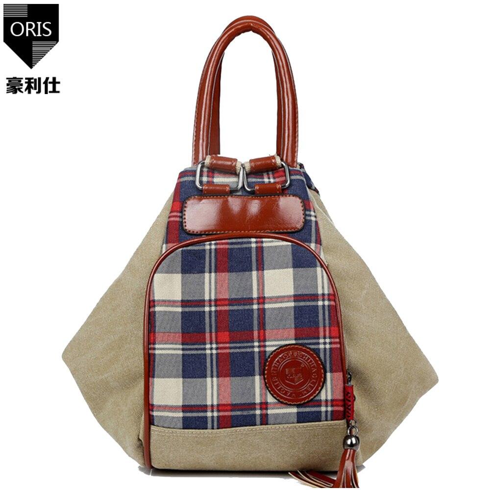 ORIS fashion women handbags casual canvas bags plaid single shoulder bag  crossbody shopping bag bolsas totes 12c0ab356a9db