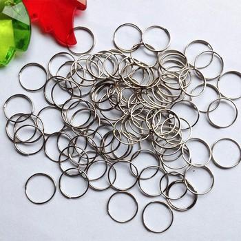 100 sztuk partia 12mm chrome stal stalowe pierścienie kryształowy żyrandol Ball części koralik akcesoria do zasłon łączące ośmiokątne koraliki tanie i dobre opinie 0 6mm W-501 Metal 100pcs Stainless Steel