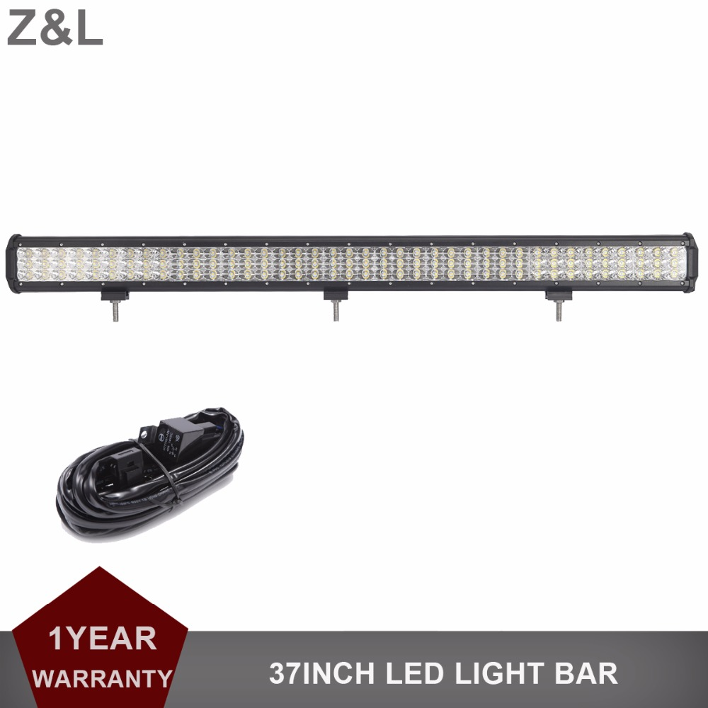 37 Inch Offroad LED Light Bar 12V 24V Car Auto Truck Trailer ATV Pickup SUV 4x4 4WD Mining Wagon AWD 4x4 LED Driving Work Lamp high bright 9 inch 90w offroad led work light bar spot flood combo car truck trailer suv boat pickup 4wd 4x4 12v 24v headlight