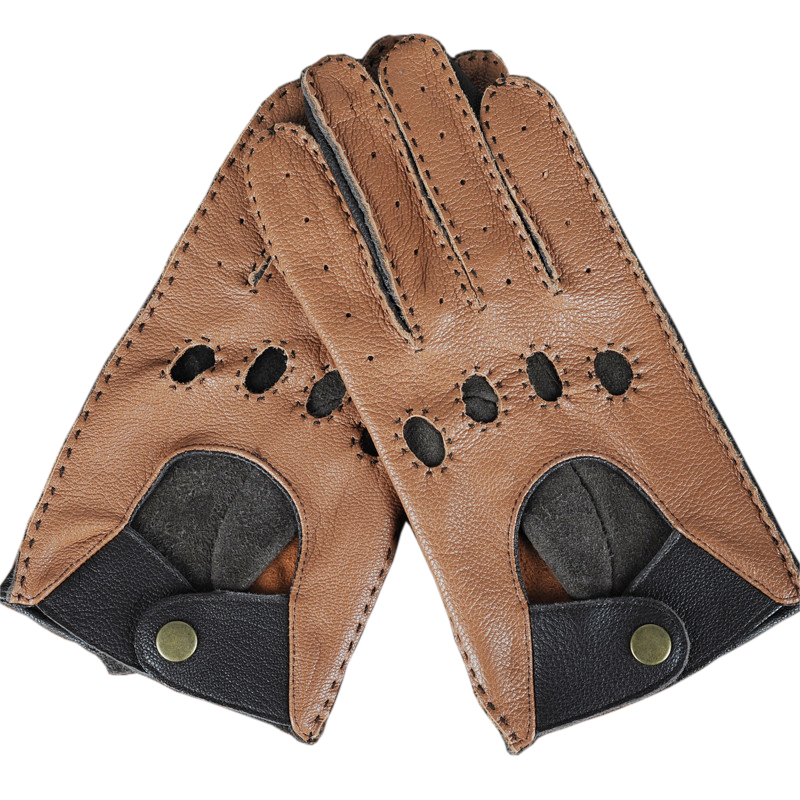 Fashion Autumn High Quality Leisure Men Genuine Leather Gloves Wrist Breathable Male Sheepskin Driving Gloves For Male Mittens
