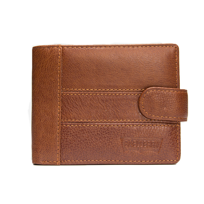 Wallet Men's Purse Genuine Leather Short  Vintage Men Wallets with Credit Card Holder and Coin Purse Pocket hombres cartera ms brand men wallets dollar price purse genuine leather wallet card holder designer vintage wallet high quality tw1602 3