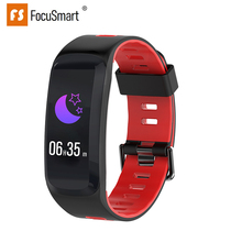 Get more info on the FocuSmart F4 Smart Wristband For IOS/Andriod Fitness Tracker Blood Pressure HeartRate Monitor Waterproof ECG PPG Smart Bracelet