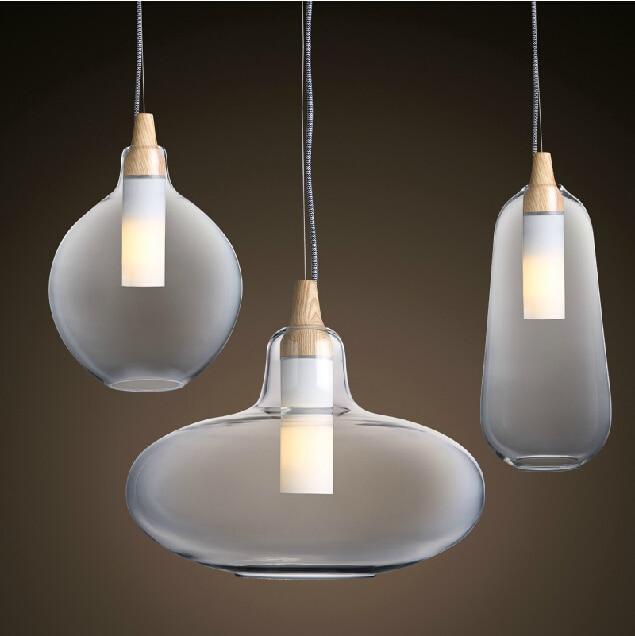 Moderne Glas Anhänger Licht Natürliche Gekrümmte Transparente