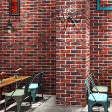 Aangepaste 3D Stereo Retro Imitatie Baksteen Behang Koffie Cafe Restaurant Bar Rode Baksteen Behang Huishoudelijke Verbetering Decor