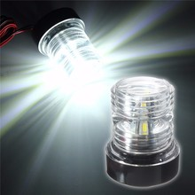 Check Discount Waterproof 13 SMD 5050 LED Marine Boat Yacht Navigation Anchor Light All Round 360 Degree Vessel Light Pure White 6000K 12V