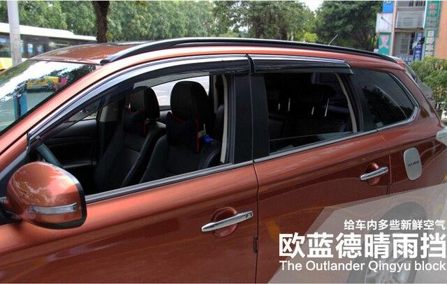 Auto rain shield window visor ,window deflector sun visor for Outlander 2013