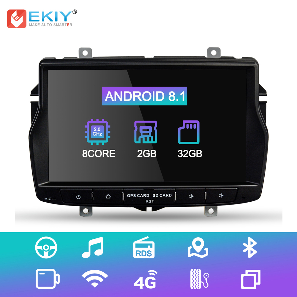 EKIY IPS DSP Car Multimedia Player For Lada Vesta 1 Din Android 8.1.0 GPS Navigation Autoradio System Stereo Radio WiFi 4G USB image