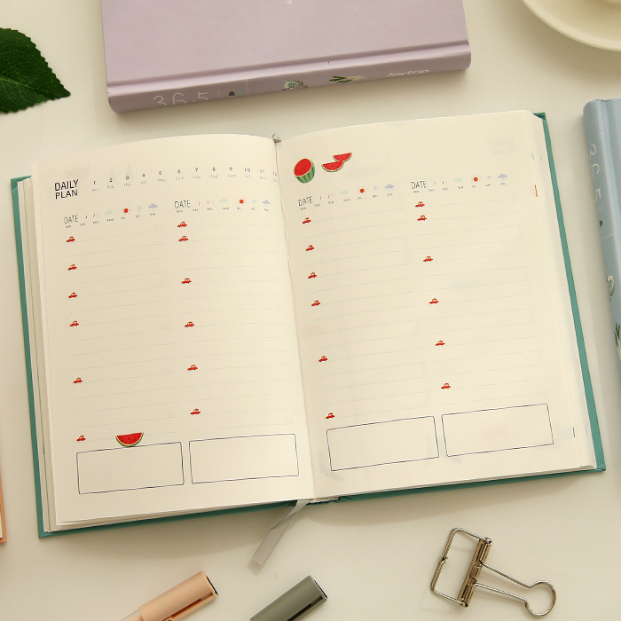Days Personal Diary Book Planner Hardcover Notebook Journal