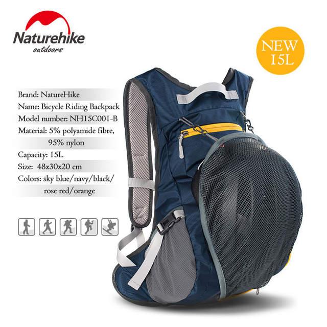 Online Shop NatureHike 15L Waterproof Backpacks ultralight Rucksack Cycling  Bike Camping Climbing Hiking travel bags with Helmet net cover  f9fd1b8a493d8