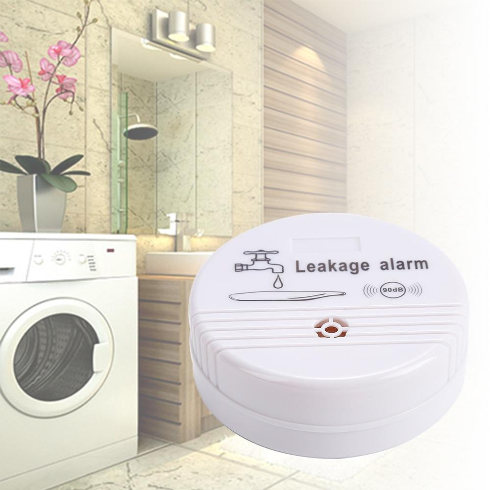 1pcs White ABS Wireless Water Leak Detector Water Sensor Alarm Leak Alarm Home Security