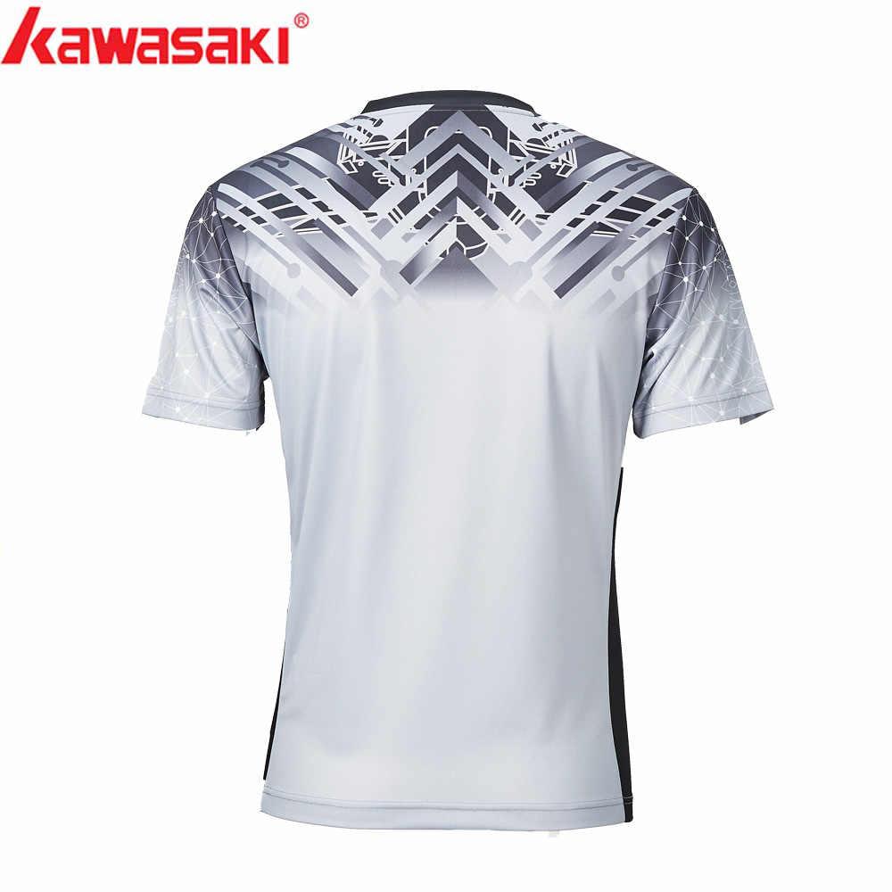 2019 Kawasaki дышащая рубашка для бадминтона мужские быстросохнущие футболки для тренировок с короткими рукавами Мужская спортивная одежда ST-S1114