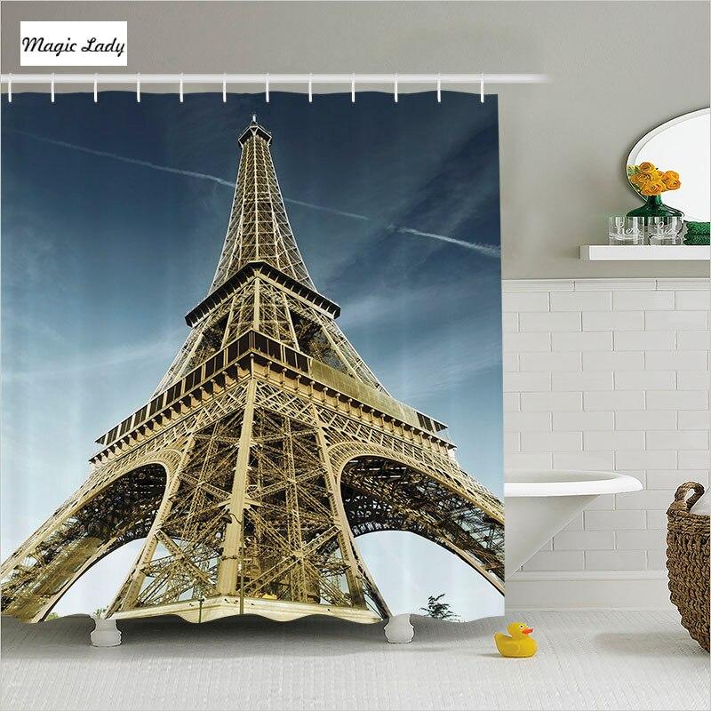 Shower Curtain Eiffel Bathroom Accessories Tower Europe