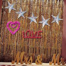 3 Pcs 40cm Neon Film Five-pointed Star Holiday Decoration DIY Craft Happy Birthday Party Decorative Christmas Tree Pendant