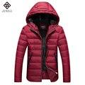 2016 Homens Parkas Jaqueta Masculina dos homens Moda Casual Slim Fit Tamanho Grande Inverno Veste Homme Hombre Parkas Casacos Com Capuz casaco