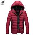 2016 Men Parkas Jaqueta Masculina Men's Casual Fashion Slim Fit Large Size Winter Veste Homme Parkas Hombre  Hooded Jackets Coat