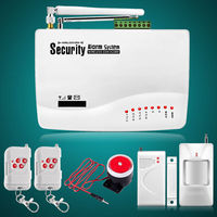 Wireless GSM Home Security Burglar Alarm System Auto Dialer SMS SIM Call 433MHz Door PIR Motion