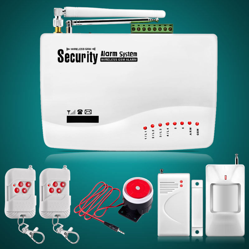 Wireless GSM Home Security Burglar Alarm System Auto Dialer SMS SIM Call 433MHz Door PIR Motion Sensor House Intercom Kit zones wireless pir home security burglar alarm system auto dialer with wireless door sensors detector new high quality