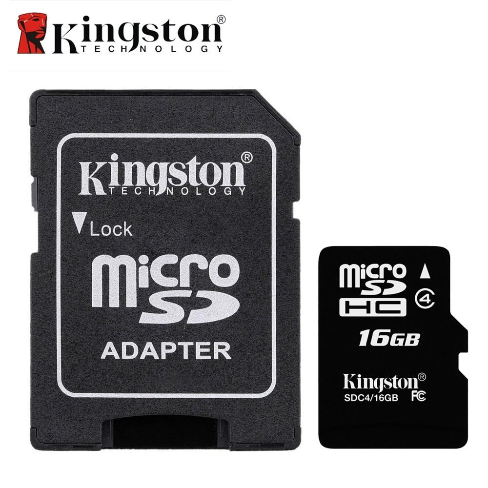 Kingston Class 4 Micro SD Card 8GB 16GB Memory Card Mini SD Card TF Card With SD Adapter Flash Memory Micro sd for Smartphone