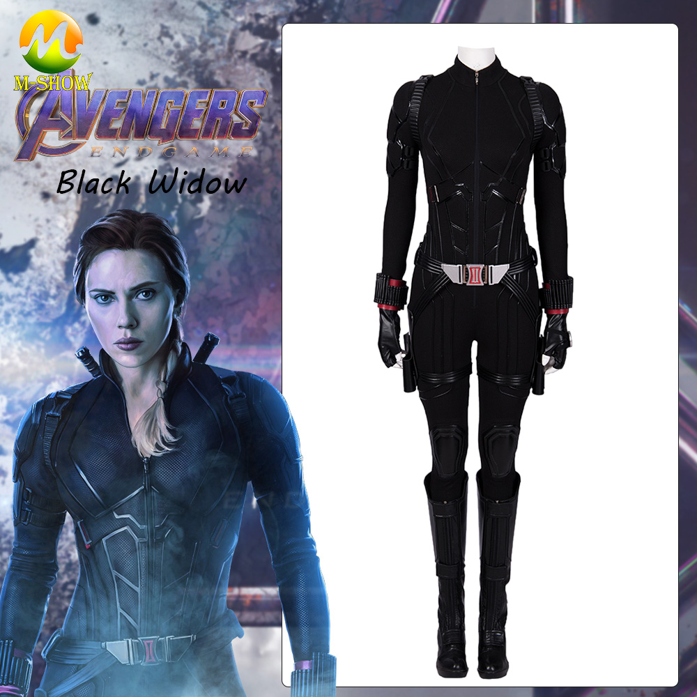 100% Waar 2019 Avengers Endgame Black Widow Cosplay Kostuum Avengers 4 Natasha Romanof Outfit Jumpsuit Halloween Party Custum Gemaakt Mooi Van Kleur
