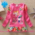 flags brand 2016 new kid t-shirt baby girl roupa infantil cartoon t shirt long sleeve child clothes wear top tutu L65549#