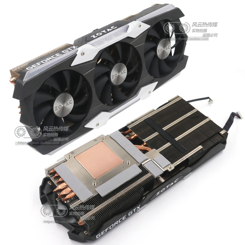 New Original for ZOTAC GTX1080Ti AMP EXTREME Graphics card cooler fan with heat sink