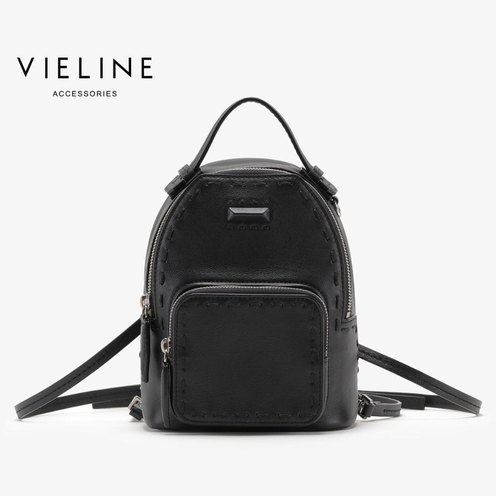 Vieline sac à dos en cuir véritable pour femme, sac à dos en cuir pour femme de marque célèbre, livraison gratuite