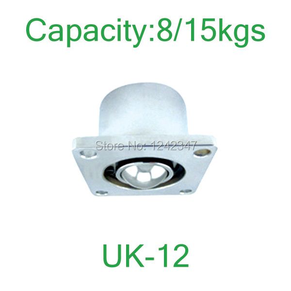 UK-12 Flanged carbon steel 15kgs Load Capacity ball caster ball-transfer-units,Ball Downside Facing UK12 Ball Transfer Unit