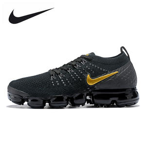ccbe98af689b NIKE AIR VAPORMAX FLYKNIT 2 Running Shoes Sneakers Black gold 1802-20 36-39