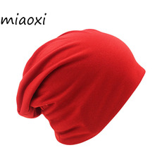 miaoxi New Arrival 10 Colors Solid Adult Unisex Women Beanies Hip Hop Knit Warm Hat For