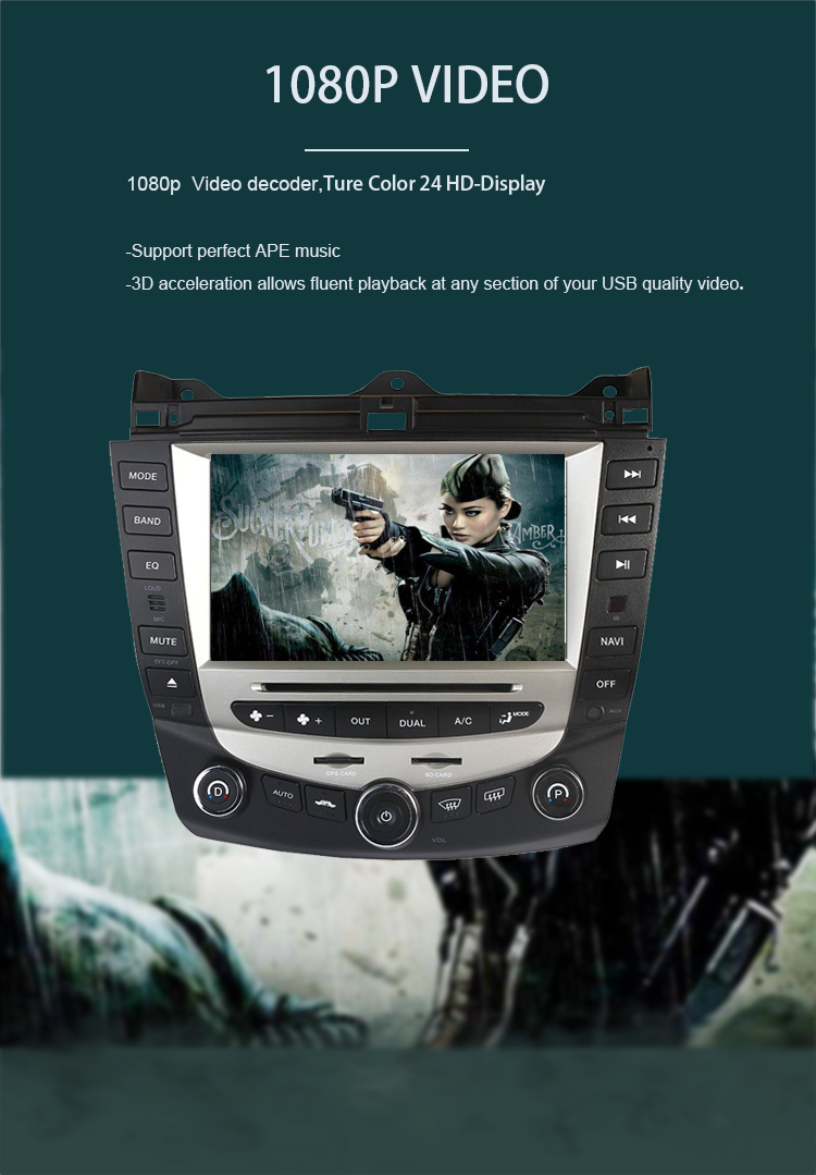 Flash Deal Car Radio Multimedia Android 8.0 for Honda Accord 7 2003-2007 car dvd audio stereo player gps Navigation wifi RDS 2din 2