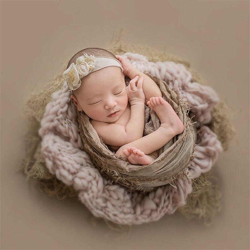 55x55 cm nouveau-né Flokati bébé photographie accessoires tricoté laine couverture nouveau-né photographie accessoires garçon Photoshoot Flokati