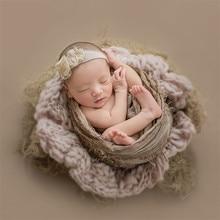 купить 55x55cm Newborn Flokati Baby Photography Props Knitted Wool Blanket Newborn Photography Props Boy Photoshoot Accessories Flokati по цене 1237.49 рублей