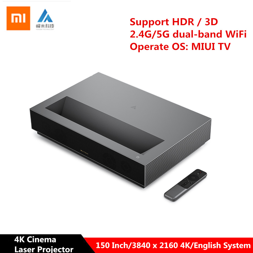 Xiaomi Fengmi 4K projecteur Laser Ultra courte portée Android 6.0 2G 64G cinéma 150 pouces ALPD MIUI projecteur TV BT4.0 Support 3D HDR
