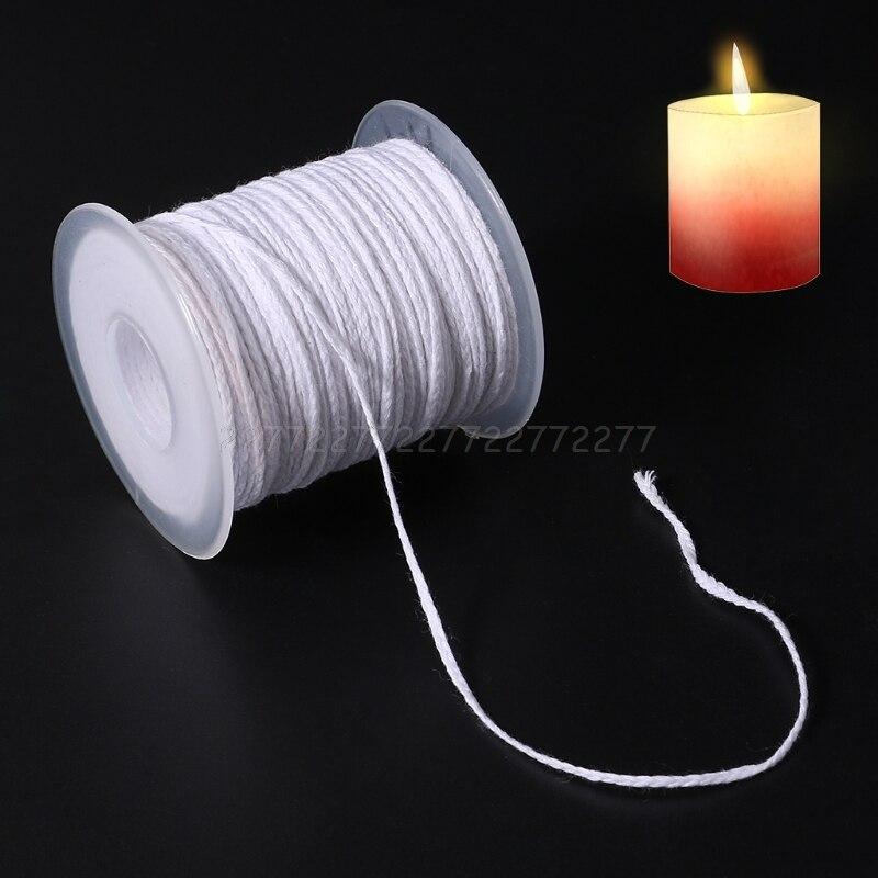 61 м хлопковая оплетка свеча фитиль ядро катушка без дыма DIY масляные лампы свечи поставки N24 Прямая поставка